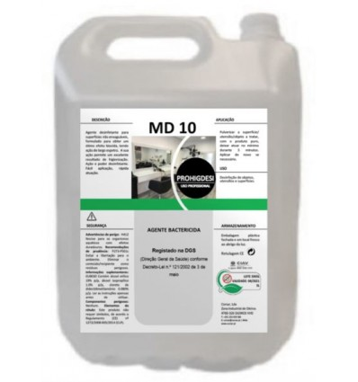 AGENTE BACTERICIDA MD-10 5000 ml