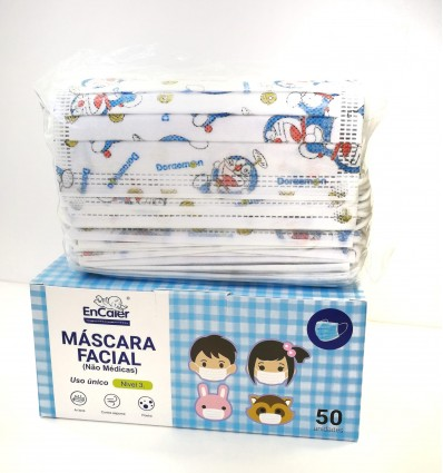 MASCARILLAS QUIRÚRJICAS INFANTILES DORAIMON 50 UNIDADES